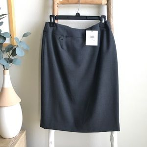 NWT Calvin Klein Grey Business Skirt